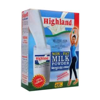 Highland Non Fat Milk Powder 400g