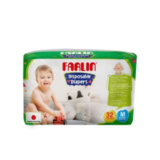 Farlin Tape Diaper Medium - 32 Pcs